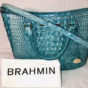 BRAHMIN LENA TOTE IN ASTRAL.  GENTLY USED.